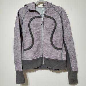 Lululemon Athletica gray Scuba full zip hoodie